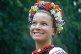 A Teenage Girl in Traditional Slavic Costume, Liberty Weekend Festival, Ny City Photographic Print