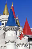 Close Up of Spires on the Excalibur Hotel and Casino, Las Vegas, NV Photographic Print
