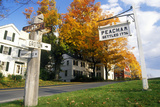 Directional Signs in Peacham, Vt in Autumn Photographic Print