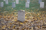 Headstone at Arlington National Cemetery in Autumn, Washington D.C. Photographic Print