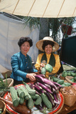 Two Thai Women Selling Vegetables at the Lotus Festival in Echo Park, Los Angeles, CA Photographic Print