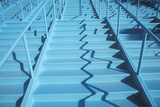 Blue Stairway, Las Vegas, NV Photographic Print