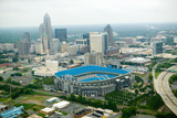 Aerial View of Ericcson Stadium and Charlotte, Nc Fotografisk trykk