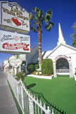 Little White Wedding Chapel, Las Vegas, NV Papier Photo