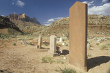 Old West Tombstones in the Desert, South Ut Photographic Print