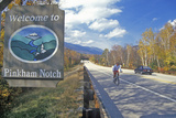 Welcome Sign to Pinkham Notch, Nh on Route 16 in White Mountains Photographic Print