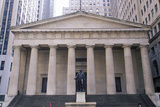 Statue of George Washington at the Entrance of the Federal Hall, New York City, NY Photographic Print