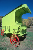 Lime Green Antique Wagon, Dolores, CO Photographic Print