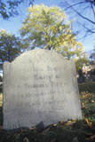 Headstone at Historic Cld Burying Ground, Cambridge, MA Photographic Print