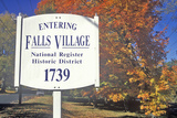 Fall Colors in Falls Village Along Scenic Highway, U.S. Route 7, Connecticut Photographic Print