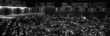 Grayscale Panoramic View of Chicago Mercantile Exchange Photographic Print