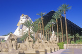 Replicas of Sphinx and Pyramid at the Luxor Hotel and Casino, Las Vegas, NV Photographic Print