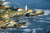Aerial View of Portland Head Lighthouse, Cape Elizabeth, Maine Photographic Print