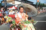 Japanese-American Woman in a Rickshaw Holding a Parisol, Little Tokyo, Los Angeles, CA Photographic Print