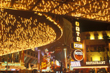 Neon Lights at Night, Downtown, Las Vegas, NV Photographic Print