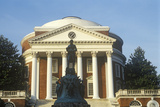 Exterior of University of Virginia with Statue of Thomas Jefferson, Charlottesville, VA Photographic Print
