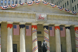 Federal Hall with Decorations on Liberty Weekend, New York City, NY Photographic Print