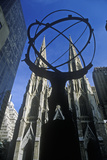 Atlas Statue in Front of St. Patrick's Cathedral, New York City, NY Photographic Print