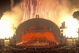 1812 Overture with Fireworks at the Hollywood Bowl, Los Angeles, California Photographic Print