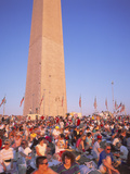 Crowd at Desert Storm Victory Parade, Washington DC Photographic Print