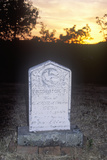 Headstone at Sunset, Chinese CAmp, CA Photographic Print