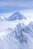 Mountain Tops in St. Elias National Park and Preserve, Wrangell Mountains, Wrangell, Alaska Photographic Print