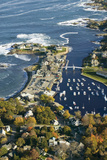 Aerial View of Perkins Cove Near Portland, Maine Photographic Print