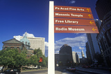 Directional Signs on the Grounds of St. Peter and PAul Cathedral, Philadelphia, PA Photographic Print
