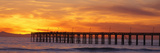 Ventura Pier and Pacific at Sunset, Ventura, California - Fotografik Baskı