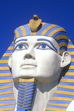 Close-Up of Replica of Sphinx at the Luxor Hotel, Las Vegas, NV Photographic Print