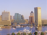 Skyline and Harbor of Baltimore, Maryland Photographic Print