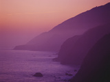 Purple Sunset Along Pacific Coast Highway, California Photographic Print