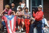 A Puerto Rican Family with their National Flag, Wilmington, De Photographic Print