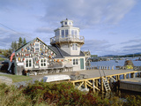 Lobster Village, Southwest Harbor of Mount Desert Island, Maine Photographic Print