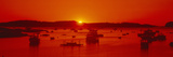 Red Sunrise at Lobster Village, Stonington, Maine Photographic Print