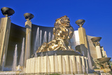 Lion Sculpture Outside of the Mgm Grand Hotel and Casino, Las Vegas, NV Fotografie-Druck