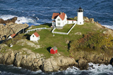 Aerial View of Nubble Lighthouse, Cape Neddick, Maine Photographic Print