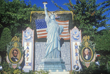 Roadside Alter to America with Statue of Liberty and Flag, Coldwater CAnyon, CA Photographic Print