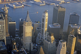 Aerial View of Wall Street, Financial District, New York City, NY Photographic Print