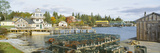 Lobster Village in Autumn, Southwest Harbor, Stonington, Maine Photographic Print