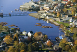 Aerial View of Boothbay Harbor on Maine Coastline Photographic Print