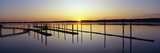 Pier and Pacific at Sunset, Oregon Photographic Print