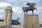 Statue of Indian on Horse, Grant Park, Chicago, Illinois Photographic Print