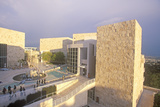 The Getty Center at Sunset, Brentwood, California Photographic Print