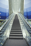 Escalator at Cleveland International Airport Photographic Print