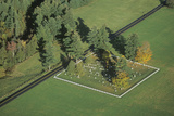 Aerial View of a Family Cemetery in Autumn, VT Photographic Print