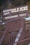 Tourist Attraction of Broken Boot Gold Mine in Deadwood, Sd Photographic Print