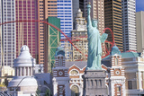 Replica of Statue of Liberty Outside of New York, New York Hotel and Casino, Las Vegas, NV Photographic Print