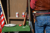 Rifles and Pistol from an Old West Re-Enactment Photographic Print