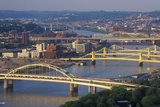 Bridges over the Allegheny River, Pittsburgh, PA Photographic Print